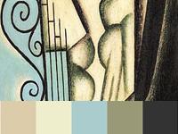 20 готовых цветовых палитр с картин художника Хуана Грис