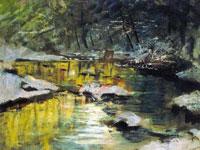 Тропинки, деревья, изгибы рек на мистических пейзажах Ласло Медянского