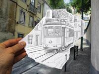 Параллельная карандашная реальность от дизайнера Ben Heine