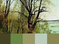 20 готовых цветовых палитр с картин художника Исаака Левитана