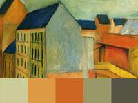 20 готовых цветовых палитр с картин художника Августа Маке