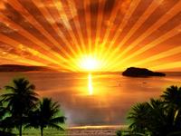 Берем фотографию восхода солнца и делаем из нее стильный фон для Твиттера